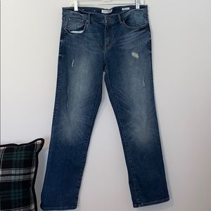 Banana Republic Premium Denim Distressed Straight